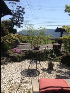 茶蔵の窓からの景色