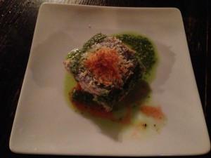 太刀魚のオーブン焼きと海老のムース