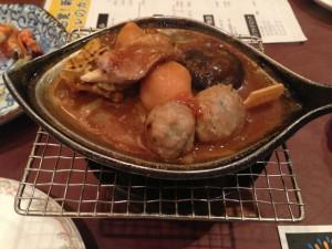 鴨と里芋の山椒味噌焼き
