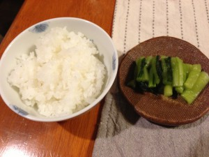 ご飯と野沢菜