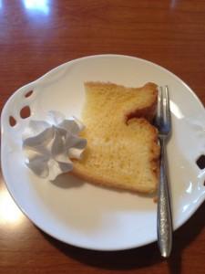 サービスのケーキ