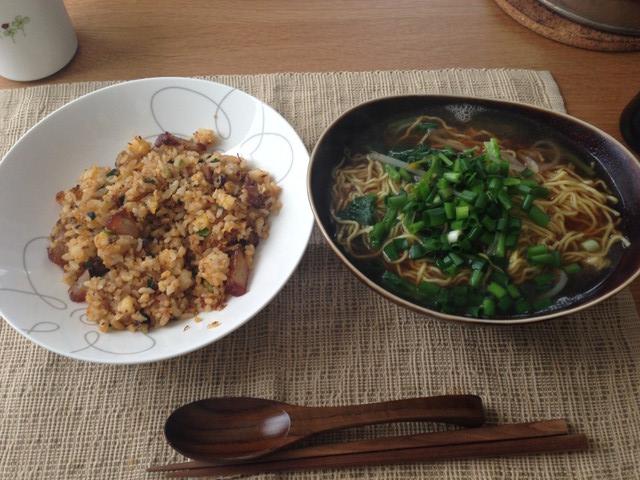 炒飯とラーメン