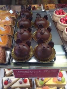 くまさんチョコレートケーキ
