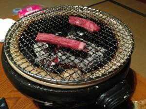 近江牛の炭火焼き