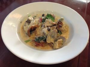 白身魚と野菜のクリーム煮