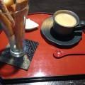 揚げパンとコーヒー