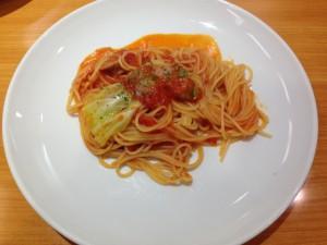 トマト系のパスタ