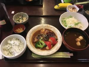 サバの八丁味噌煮定食