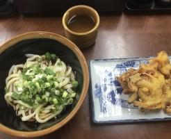 うどんと野菜天ぷら