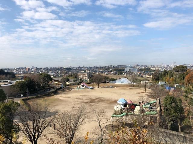 裏山の高台からの景色