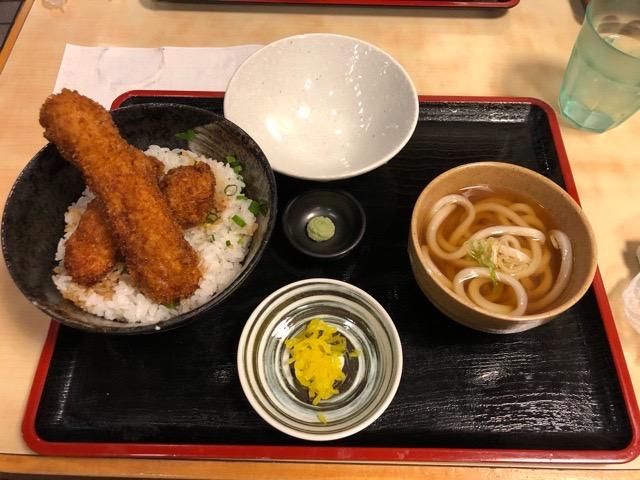 醤油カツ丼とうどんセット