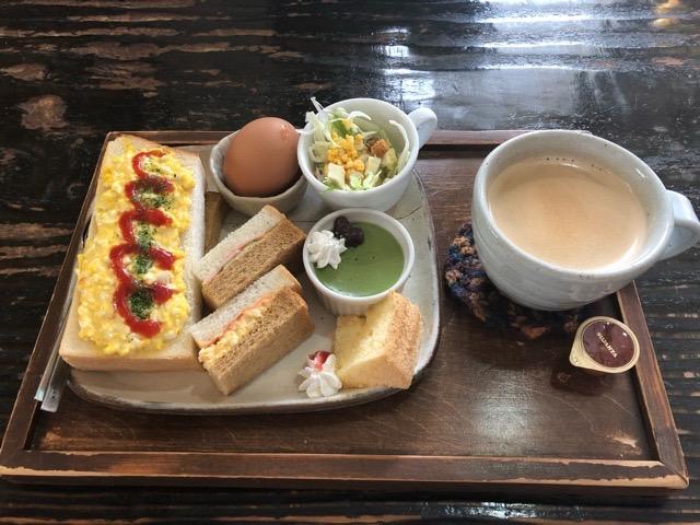 にじいろcafe エッグトースト