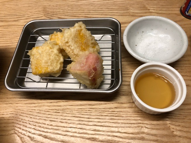 串やき 木村  カマンベール天ぷら